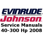Service Manuals for 2008 Evinrude E-TEC outboards 40-300 Hp