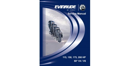 Service Manual 2008 Evinrude E-tec 115-150-175-200 Hp 60° V4/V6