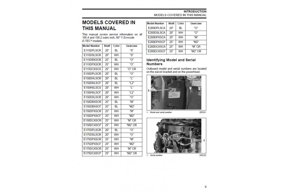 07 Evinrude Etec 60 Hp Repair Manual
