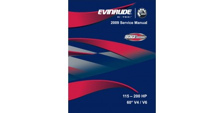Service Manual 2009 Evinrude E-tec 115-130-150-175-200 Hp 60° V4/V6