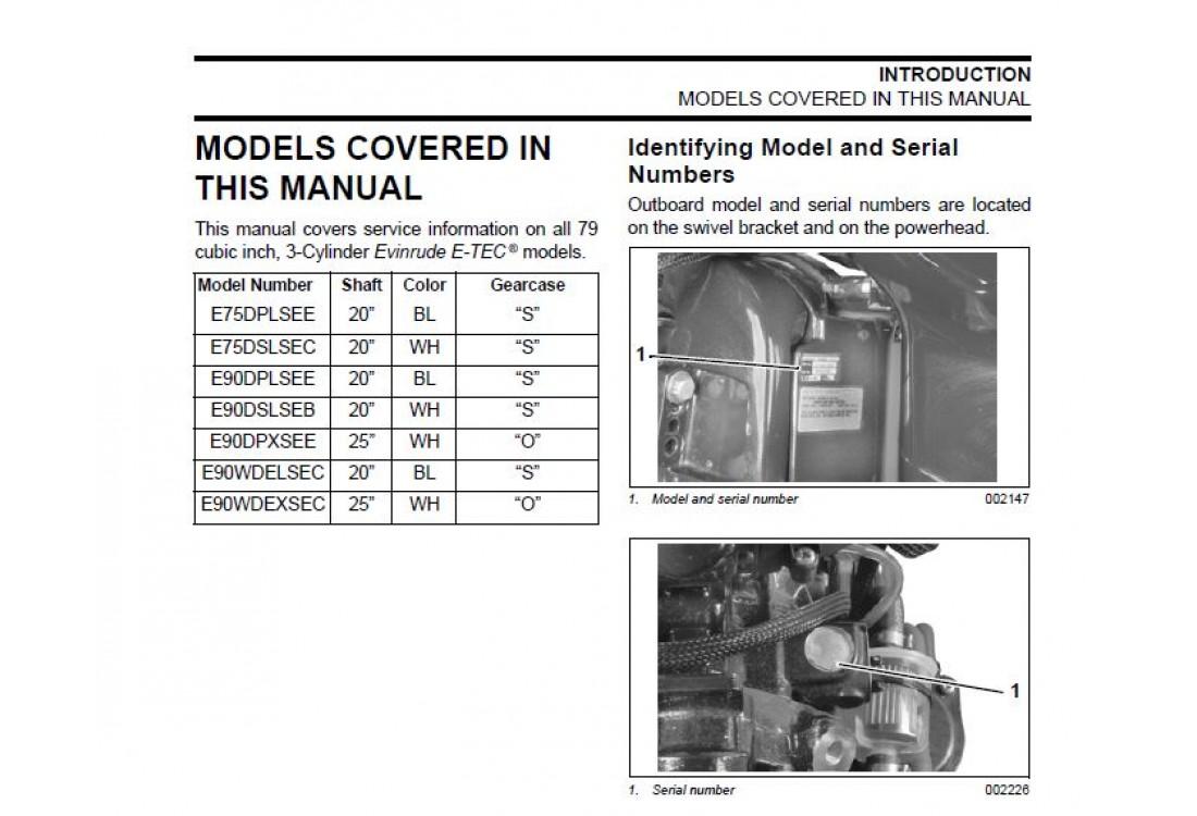 Evinrude V4 90 hp manual