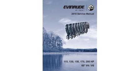 Service Manual 2010 Evinrude E-tec 115-130-150-175-200 Hp 60° V4/V6