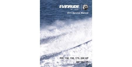 Service Manual 2011 Evinrude E-tec 115-130-150-175-200 Hp 60° V4/V6