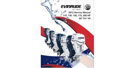 Service Manual 2012 Evinrude E-tec 115-130-150-175-200 Hp 60° V4/V6