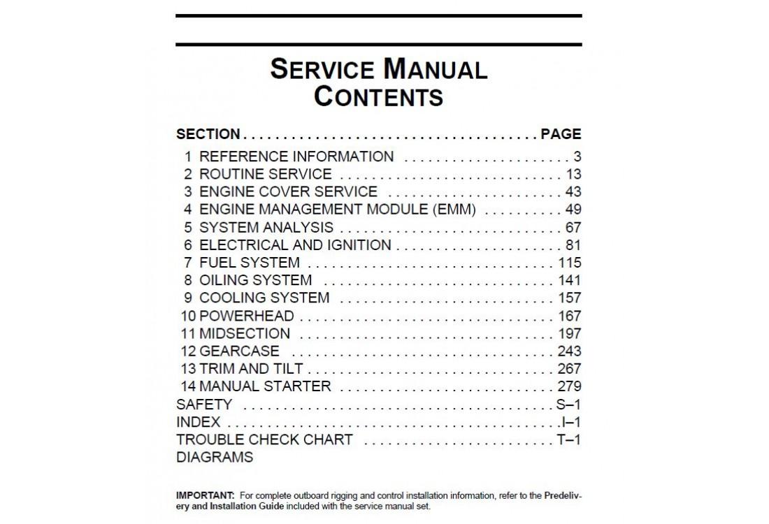 Service Manual 2012 Evinrude E-tec 15-25-30 Hp (p/n 5008732)