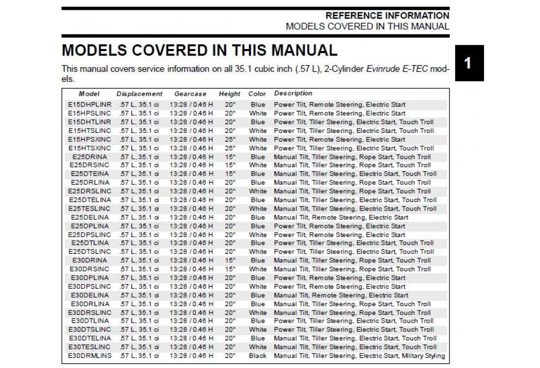 Service Manual 2012 Evinrude E N 5008732