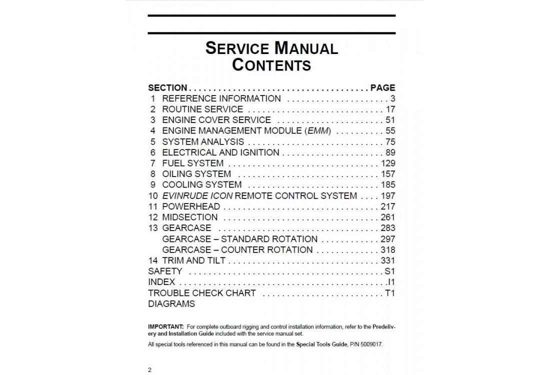 service manual 2013 evinrude e tec 200 225 250 300 hp 90v. Black Bedroom Furniture Sets. Home Design Ideas